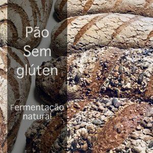 Pão artesanal sem gluten de fermentação natural com massa mãe
